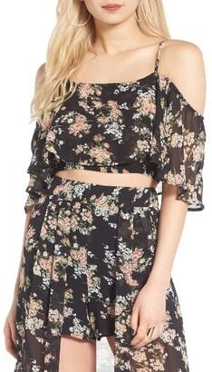 Women's Leith Flutter Floral Print Tank $45 thestylecure.com