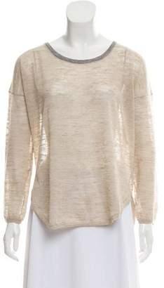 Zadig & Voltaire Scoop Neck Semi-Sheer Sweater