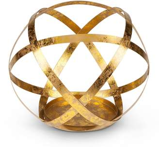 Kohl's Gold Finish Sphere Large Candle Holder