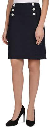 7765f3cc61952 Gerard Darel Irene Button-Detail Skirt