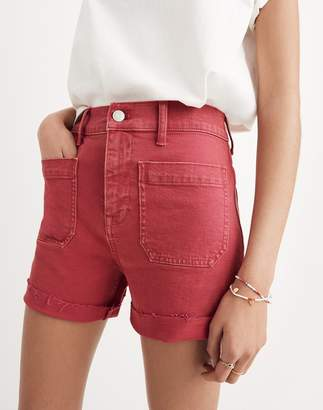 Madewell High-Rise Denim Shorts: Garment-Dyed Edition