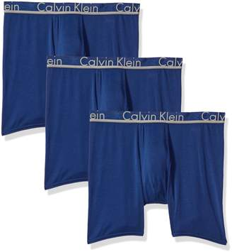 Calvin Klein Men's Comfort Microfiber Boxer Brief 3 Pack