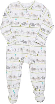 Angel Dear Striped Elephant Zip-Front Footie Pajamas, Size 0-9 Months