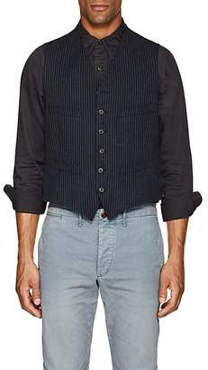 Rrl Men's Pinstripe Cotton Vest