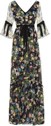 Erdem Petunia floral-printed dress