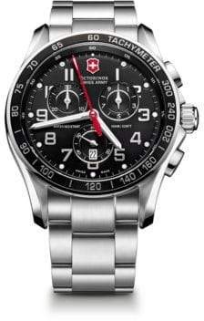 Victorinox Chrono Classic XLS Stainless Steel Chronograph Bracelet Watch