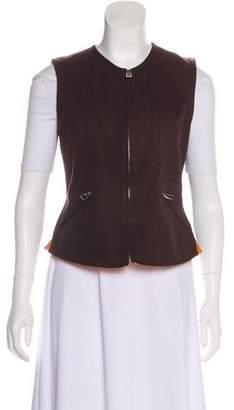 Hermes Sleeveless Zip-Up Vest