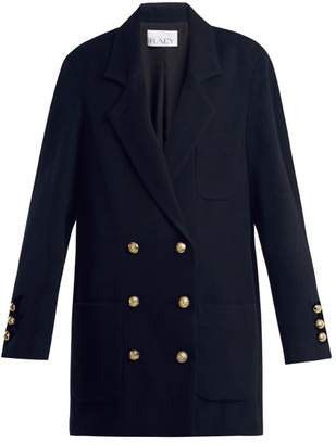 Raey Drop Shoulder Wool And Cashmere Blend Blazer - Womens - Navy