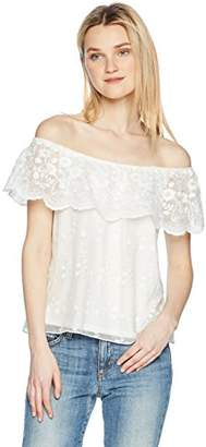 Amy Byer A. Byer Junior's Off The Shoulder Top with Lace (Junior's)