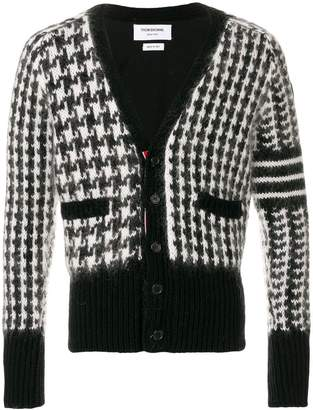 Thom Browne Wool Fun Mix V-Neck Cardigan