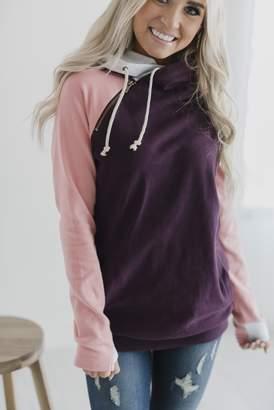 Ampersand Avenue DoubleHood Sweatshirt - Plum Pink