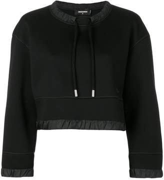 DSQUARED2 cropped drawstring sweatshirt