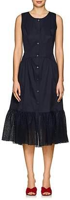 Zac Posen Women's Eyelet-Trimmed Cotton Shirtdress