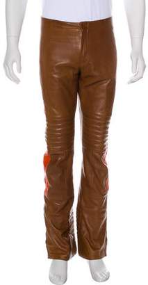 Gucci 2000 Leather Moto Pants