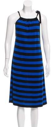 MICHAEL Michael Kors Silk Stripe Dress