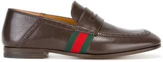 Gucci Web trim loafers