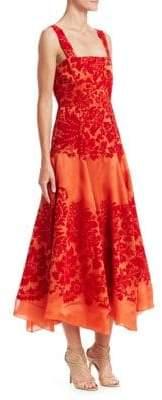 Rosie Assoulin A-Line Silk Cocktail Dress