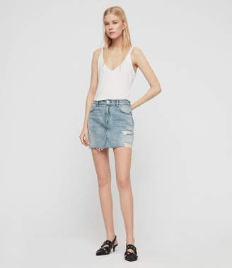 AllSaints Alex Denim Skirt