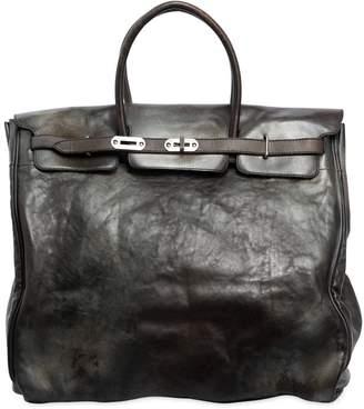 Numero 10 Leather Top Handle Bag