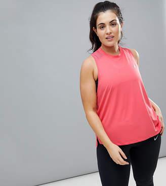 Nike Running Plus Running Dry Miler Tank In Pink