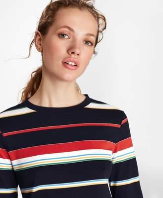 Brooks Brothers Striped Supima Cotton Interlock Jersey Long-Sleeve T-Shirt
