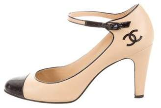 Chanel Mary Jane Cap-Toe Pumps