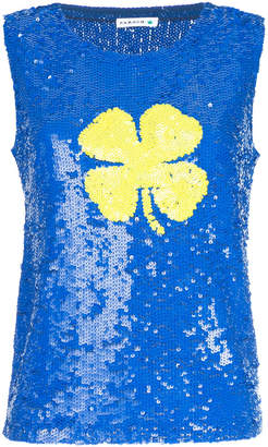 P.A.R.O.S.H. sequined clover tank top