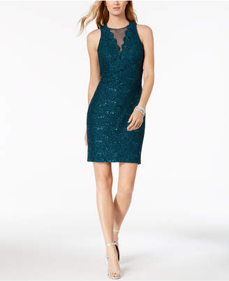 Night Way Nightway Sequined Lace Cocktail Dress