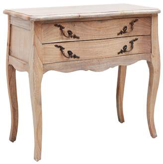 Chateau X French Provincial Chateaux 2 Drawer Bedside Table Finish: Weathered Oak
