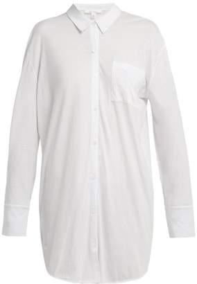 Skin - Kiana Organic Cotton Sleep Shirt - Womens - White