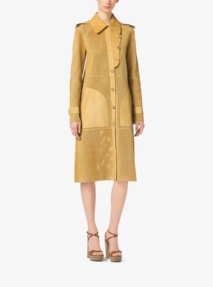 Michael Kors Perforated Suede Trench Coat