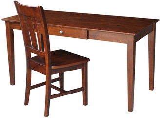 International Concepts Home Office Desk with Chair