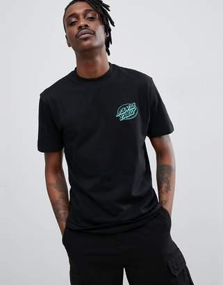 Santa Cruz Oval Dot t-shirt in black
