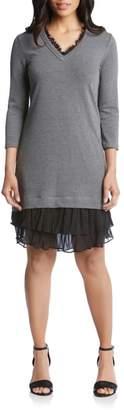 Karen Kane Ruffle Hem Sweater Dress