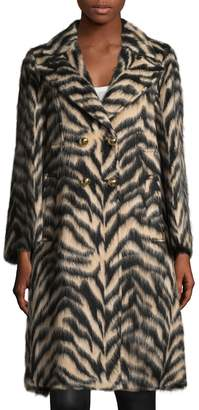 Roberto Cavalli Women's Wool Blend Animal Print Coat