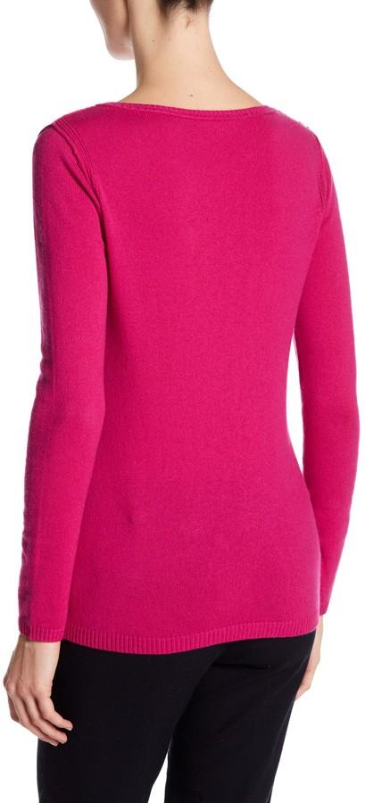 In Cashmere Cashmere Open-Stitch Pullover Sweater 4