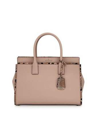 Kate Spade New York Cameron Street Candace Snakeskin Satchel Bag, Toasted Wheat $398 thestylecure.com
