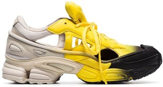 Adidas By Raf Simons black, yellow and grey RS replicant ozweego sneakers