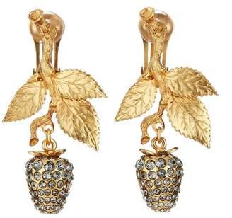 Oscar de la Renta Pave Berry Earrings