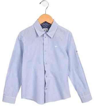 Armani Junior Boys' Button-Up Striped Shirt
