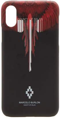 Marcelo Burlon County of Milan Wings Barcode iPhone X Case