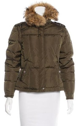 Andrew Marc Fur-Trimmed Puffer Jacket $175 thestylecure.com