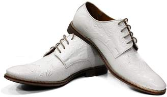 PeppeShoes Modello Chalk - US 12 - Handmade Italian Leather Mens Oxfords Dress Shoes - Cowhide
