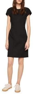 MANGO Short-Sleeve Sheath Dress