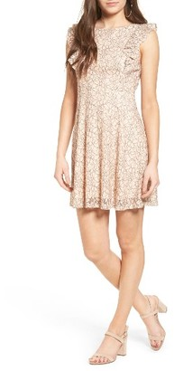 Women's Lush Ruffle Lace Dress $49 thestylecure.com