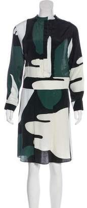 Marni Printed Silk-Blend Dress