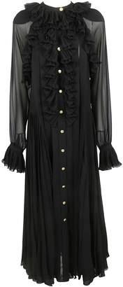 Philosophy di Lorenzo Serafini Ruffled Sheer Long Dress