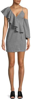 CLYDE MLM Ruffled Wrap Dress