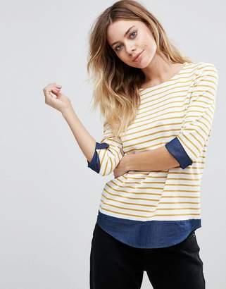 Vila Striped 3/4 Sleeve T-Shirt $28 thestylecure.com