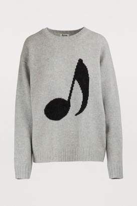 Acne Studios Musical note wool sweater